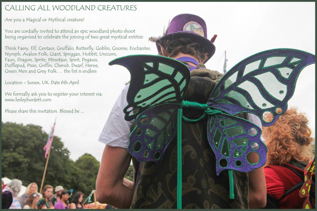 Woodland Shoot Invite - Lesley Burdett Photography www.lesleyburdett.com